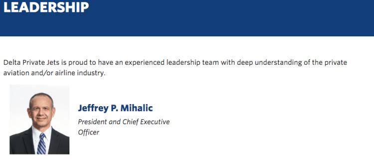 Delta Private Jets leadership team
