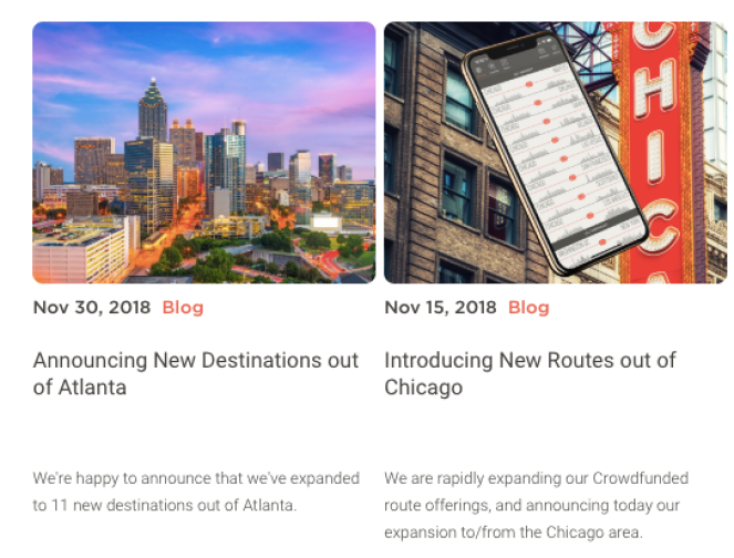 JetSmarter Atlanta and Chicago routes