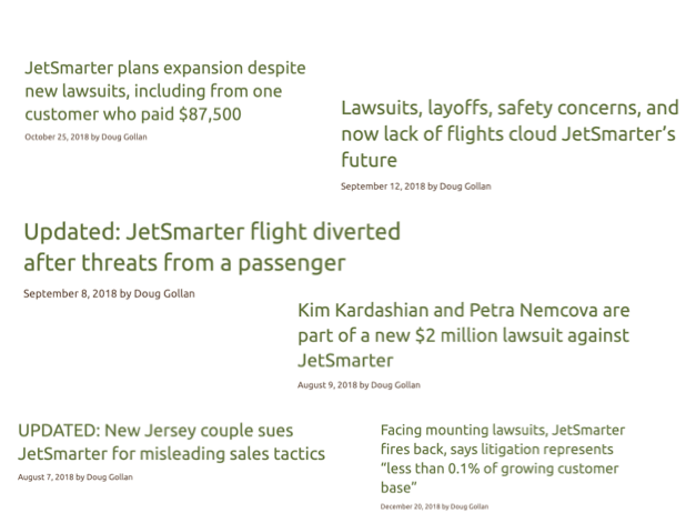 JetSmarter lawsuits