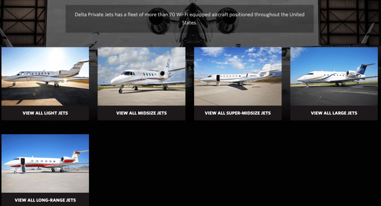 Delta Private Jets prices