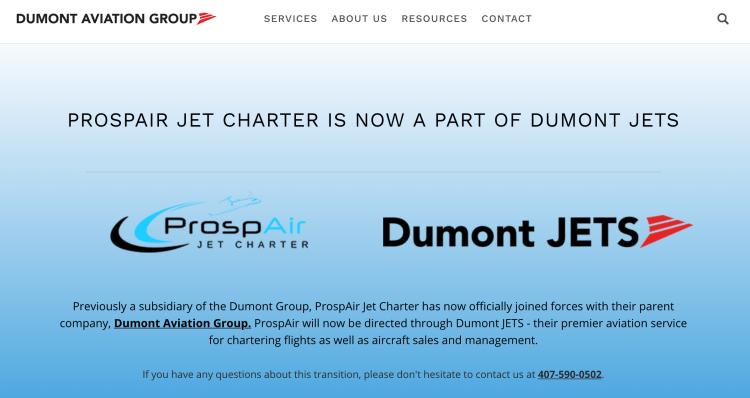 Dumont Jets jet card