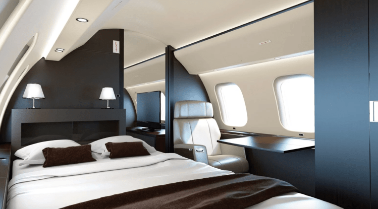 Global 7500 bedroom