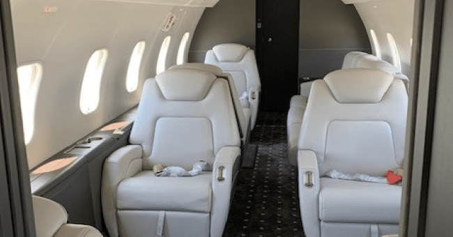 XOJET new Challenger 300 interior