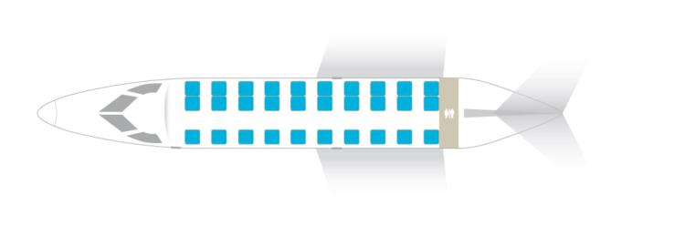 Embraer 135LR seat plan