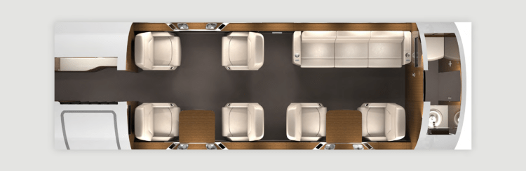 Challenger 650 interior