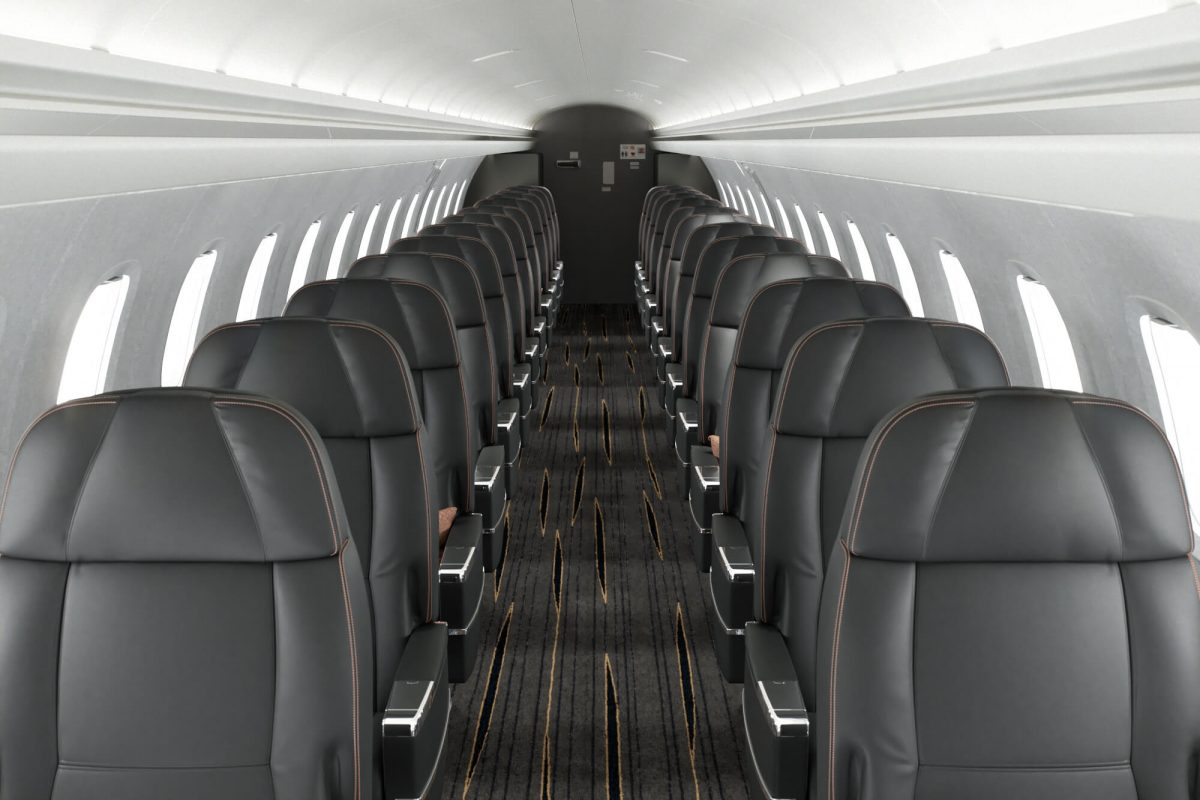 by the seat private jet