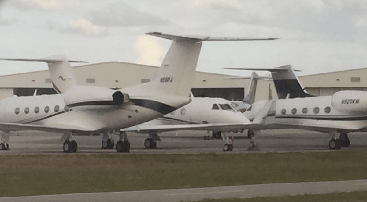 private jet at Opa Locka