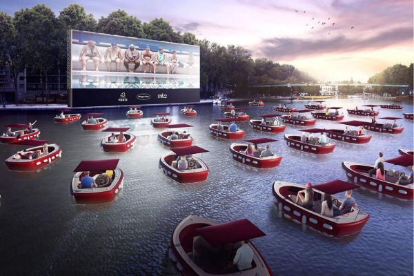 Have a look at this floating movie theater in Paris complete with socially distant boats
