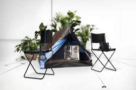 The great outdoors in the Louis Vuitton camping tent