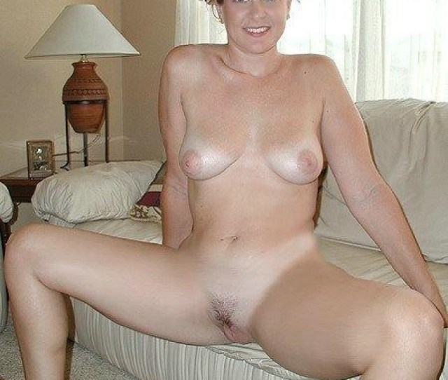 Cute Amateur Milf Naked On The Sofa