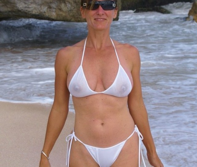 Milf Babe In A See Through Bikini