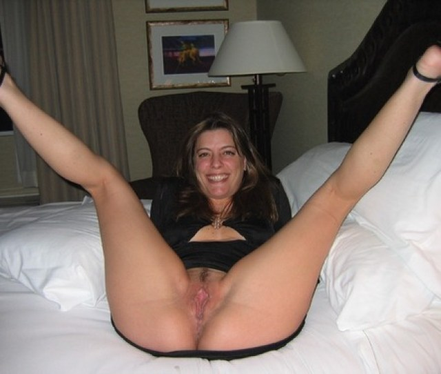 Amateur Milf Spreading Her Legs Wide Open