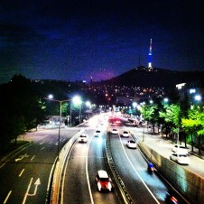 view from Noksapyeong, Seoul
