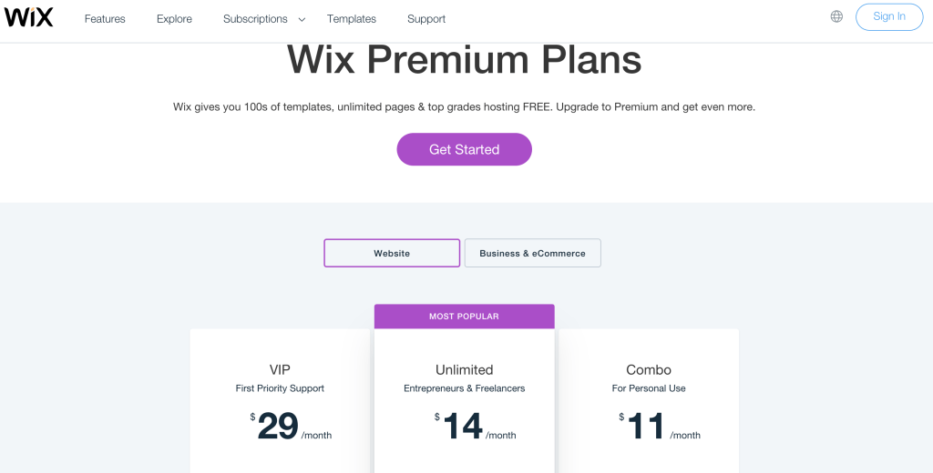 Wix Website Builder for Therapists