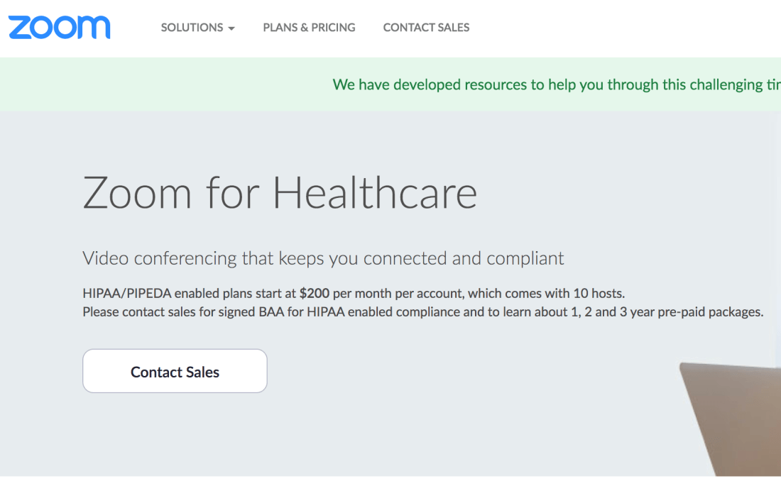 Zoom for Healthcare Pricing