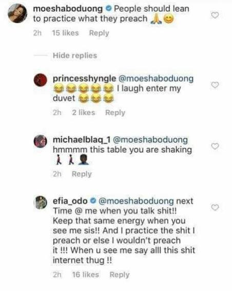 Efia Odo dated a married man and had an abortion for a musician – Moesha reveal