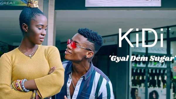 Gyal dem sugar video: Ghanaian Highlife artiste, KiDi has released visuals for his news song dubbed 'Gyal Dem Sugar', Staring Cina Soul and