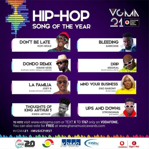 Hip-Hop song of the year(Kofi Mole - Don't be late)