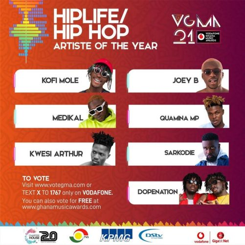 HipLife-HipHop Artiste of the Year(Sarkodie)