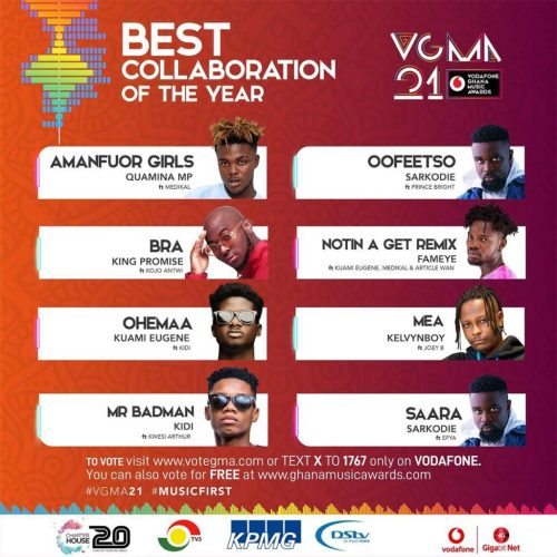Best Collaboration of the year(the year; another competitive category but then again we see King Promise - Bra ft Kojo Antwi)