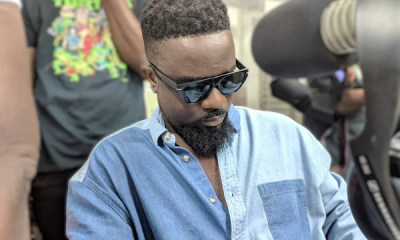 Sarkodie in a studio
