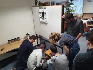 Team aan het werk