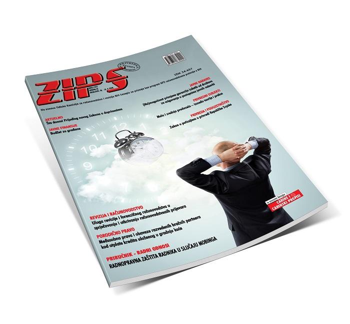 ZIPS u broju 1417 od 16. do 31. X 2019. godine, donosi