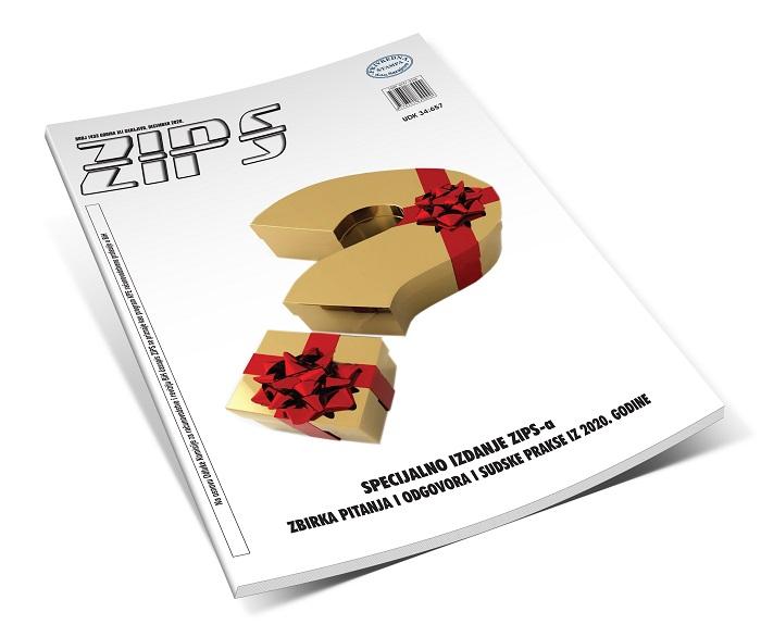 ZIPS u broju 1433, decembar 2020. godine, donosi