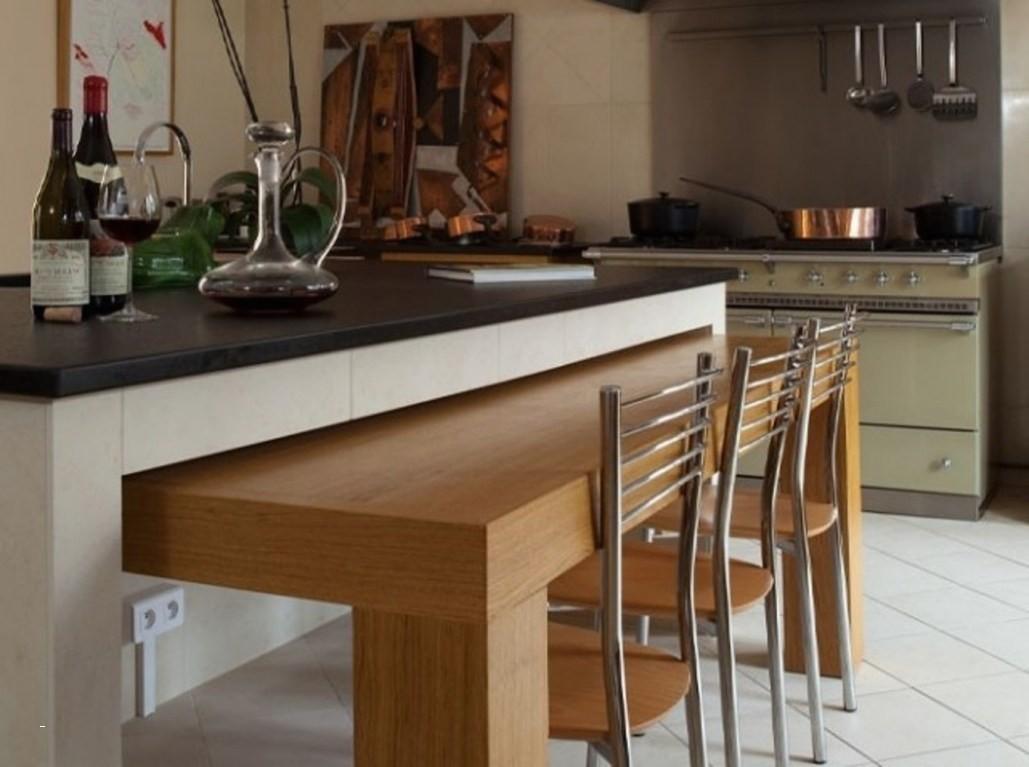 Ilot Central Cuisine Avec Table Escamotable Ikea Novocom Top