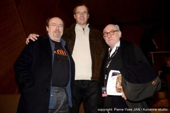 """Etienne Chicot, Alain Minier et Frédéric Vidal - Présent à la projection du film """"Un P'tit Gars de Ménilmontant"""""""