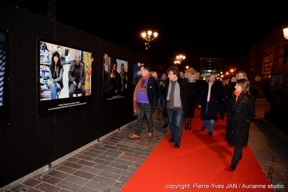 Robert Hossein et Henri-Jean Servat - Exposition de Nathalie Eno
