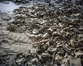 Gas masks scattered on the floor of a school lobby in the abandoned city of Prypiat. As a result of the nuclear accident and the subsequent...
