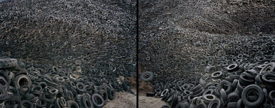 Oxford Tire Pile #9a & 9b (diptych)