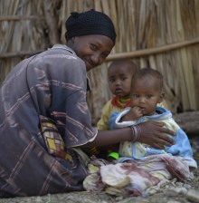 Borana mother with children, Gotu Village, Nakuprat-Gotu Community Conservancy