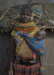 Turkana mother and baby, Nakuprat Village, Nakuprat-Gotu Community Conservancy