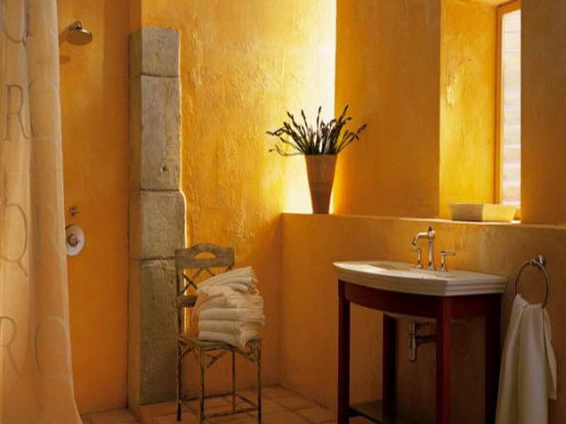 Carrelage salle de bain ocre