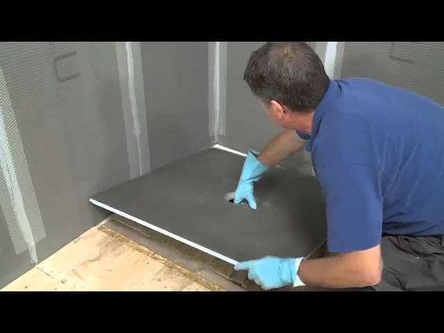 Installer une douche italienne sur plancher bois ou  ltage