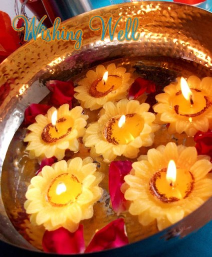 indian floating candles for bollywood party in Raleigh Durham