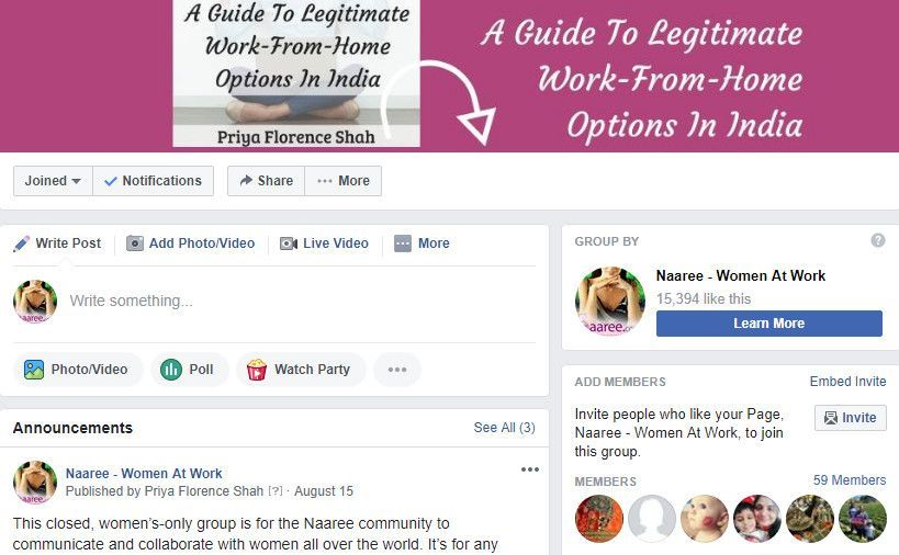 Naaree-Facebook-Group-Linked-To-Page