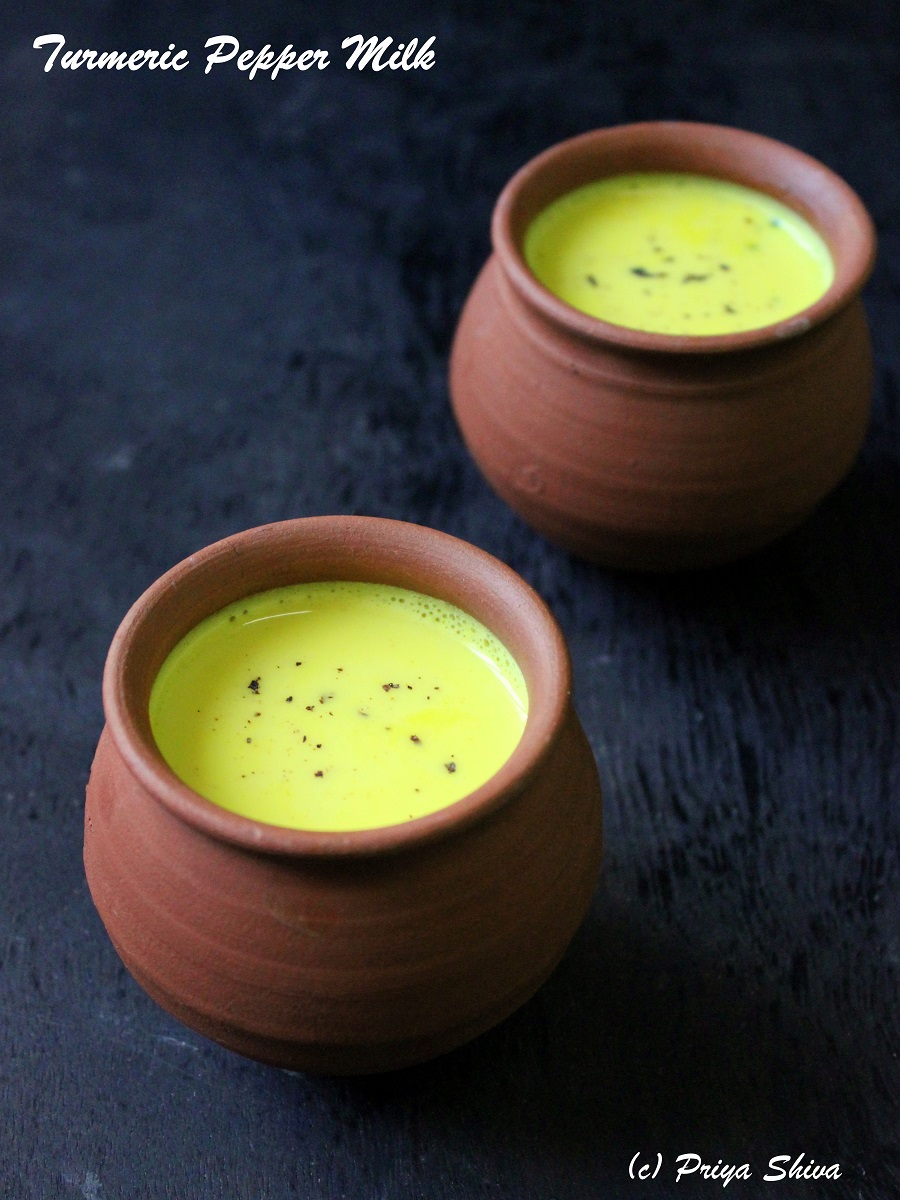 Manjal Milagu Paal - Turmeric Pepper Milk