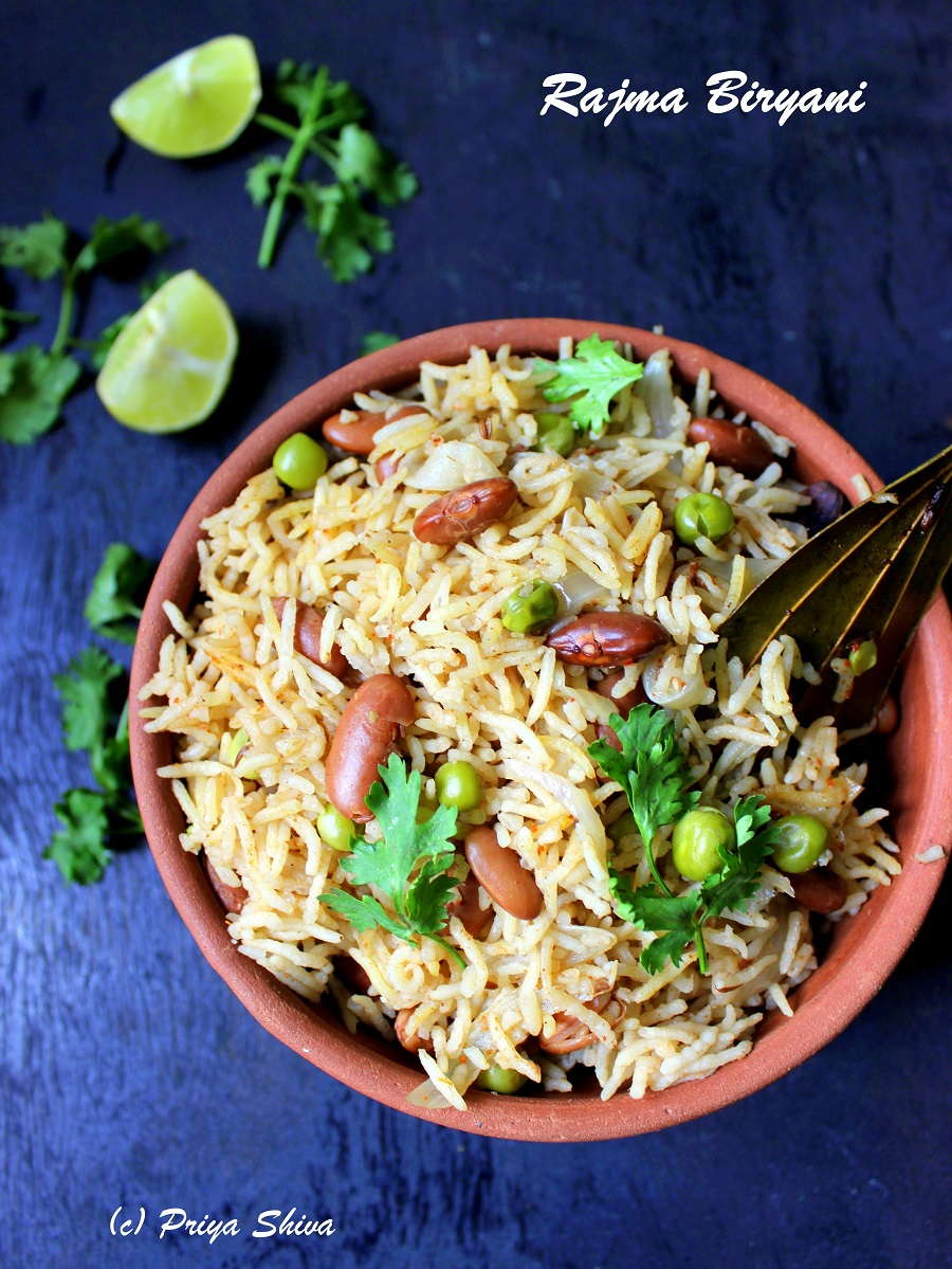 Rajma Biryani Recipe