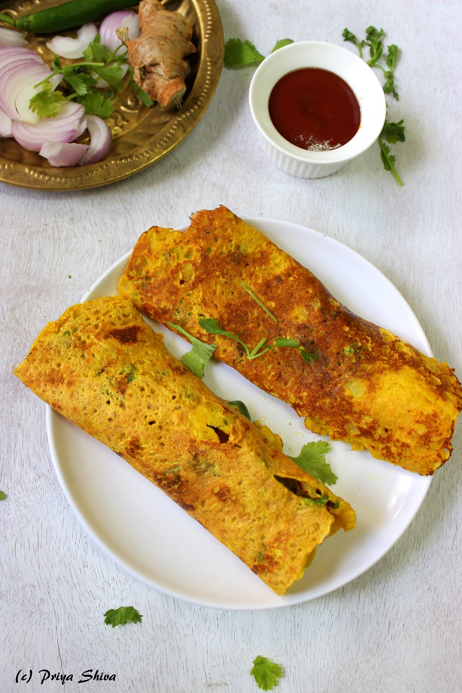 Besan Ka Cheela - Chickpeas Flour Crepes