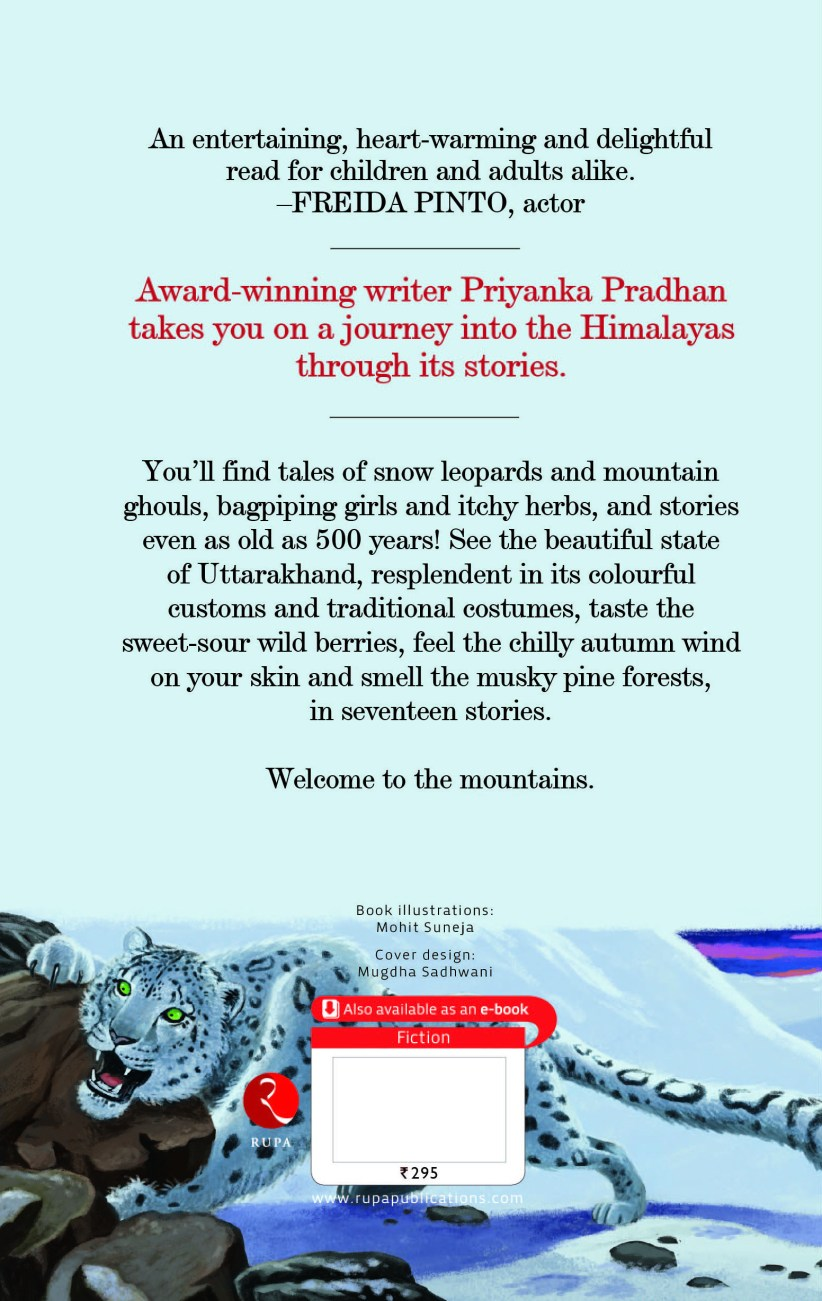 Back cover of Tales from the Himalayas