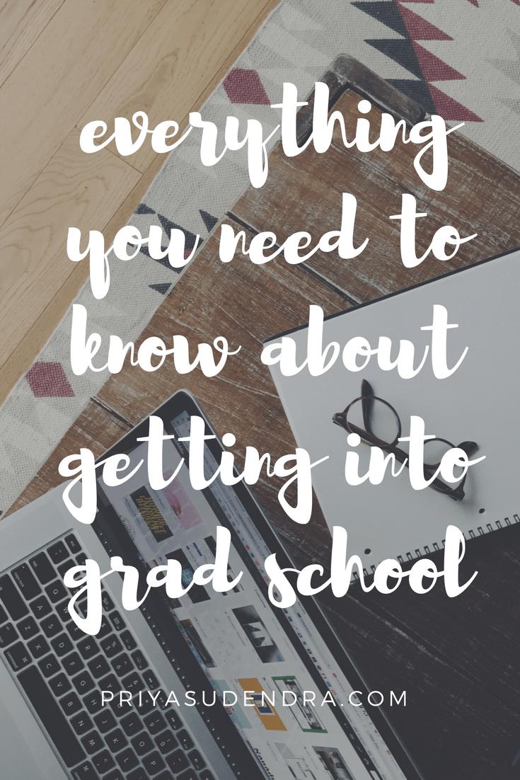 How to Get Into Graduate School advise