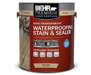 BEHR PREMIUM® Semi-Transparent Waterproofing Stain & Sealer Review