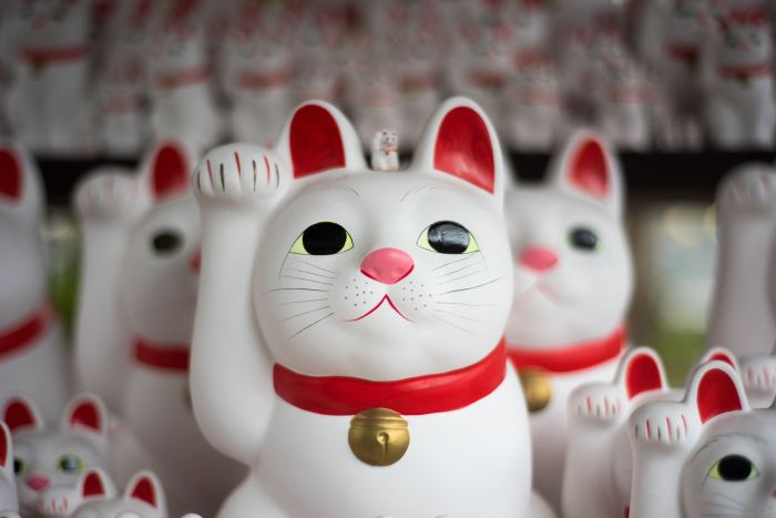 Japanese Lucky Waving Cat Symbol