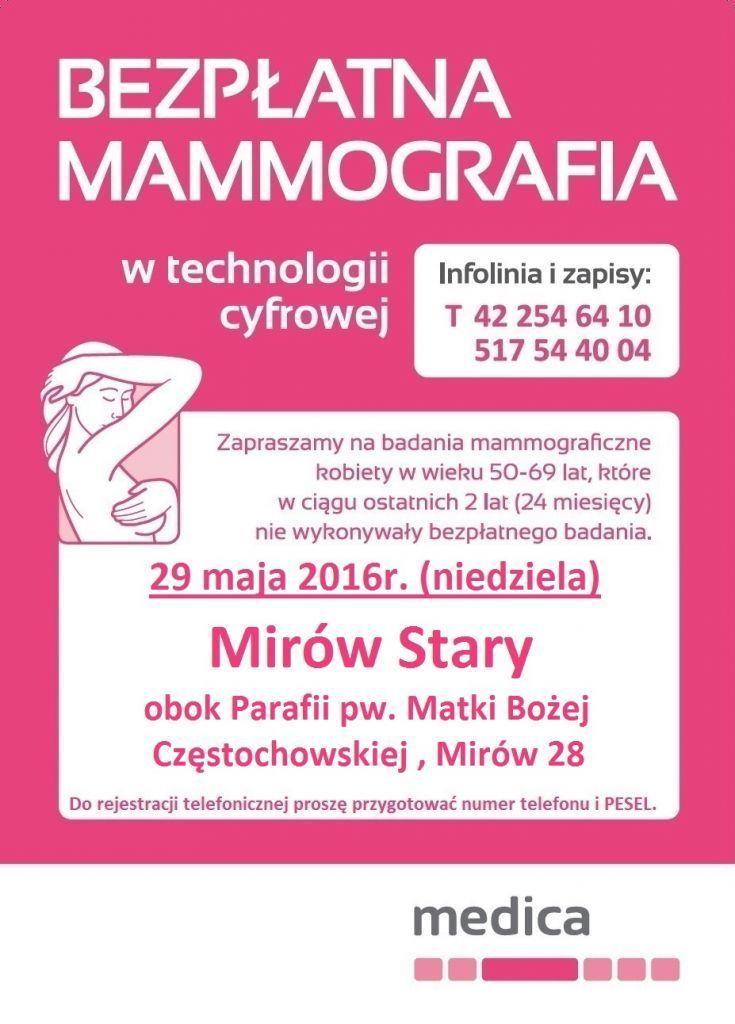 mammografia Mirów Stary maj 2016 735x1024 Badania dla pań