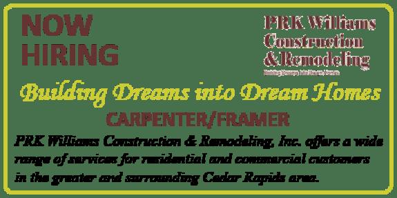 Carpenter/Framer Job Opening