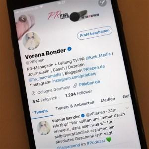 PR, PRleben, Verena Bender, PR Blog, PR Coach, Medien, Presse, Kommunikation, TV Promotion, Public Relations, Social Media, Twitter