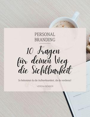 Workbook Personal Branding, Sichtbarkeit